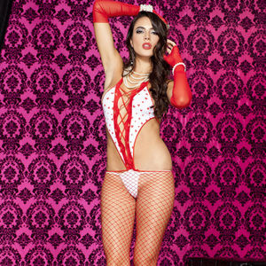 44f41d498ab Heart Opaque Crotchless Bodystocking